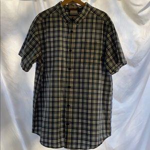 Men's Columbia plaid button down shirt